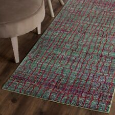 "Green / Red Safavieh Valencia Polyester Runner 2' 3"" X 8'"
