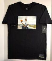 Nike Air Jordan He Got Game Tee Shirt Black/graphic Men's Sz Large Standard Fit
