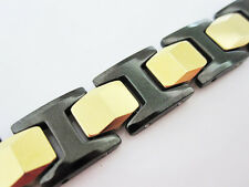 Promotion Black & Yellow Gold Tungsten Carbide  Energy magnetic Bracelet TS149