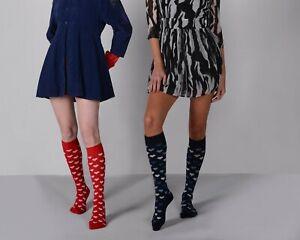 Mysocks 3 Pairs Knee High Premium Heart Design Socks