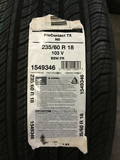 1 New 235 60 18 Continental Pro Contact TX Tire
