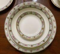 RARE! Set of 84 Antique Limoges France Elite Works China Black/Pink/Green/Gold