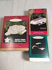Lot Of (3) Hallmark Star Trek Keepsake Ornaments U.S.S. Defiant  +More MiB