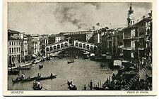 Primi '900 Venezia ponte di Rialto gondole FP B/N VG ANIM