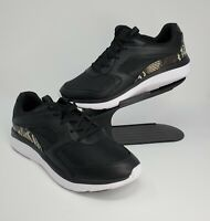 New Vionic Womens Adela Boa Snake Lace-Up Sneakers Shoes Black Size 11