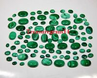 150CT WHOLESALE LOT NATURAL GREEN MALACHITE CALIBRATED CABOCHON HOT GEMSTONE AAA