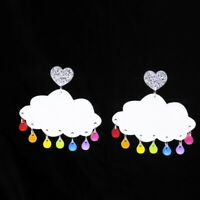 HOT Women White Cloud Earring Acrylic Resin Drop Dangle Stud Earrings Jewelry