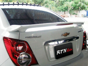 FOR CHEVROLET SONIC SEDAN 2013-2016 REAR SPOILER WING WITH LAMP ABS UNPAINTED