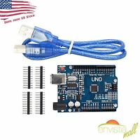 Arduino UNO R3 Compatible with USB Cable ATMEGA328P CH340 USB US Seller