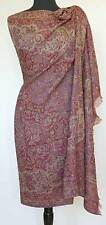 Large Jamavar Paisley Wool Shawl Dramatic Elegance Home Decor Pashmina Floral