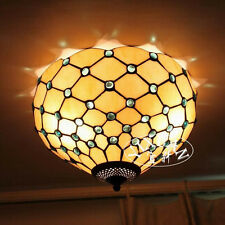 Tiffany Style Wall Flush Mount Sconc Dragonfly Stained Glass Double Ceiling Lamp