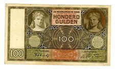Netherlands ... P-51b ... 100 Gulden ... (8.MAY.1941) ... *F/VF*