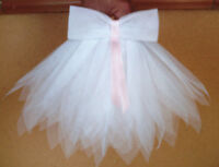 "Beautiful White Tutu for Reborn Baby Doll. Waist 15"" to 20"" Doll's and Bears"