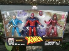 MARVEL LEGENDS 6'' FAMILY MATTERS 3 PACK MAGNETO SCARLET WITCH QUICKSILVER BRAND