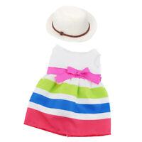 18inch Doll Sleeveless Princess Dresss & Straw Hat For AG American Doll Dolls