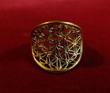 Convex Flower of Life Ring - Sacred Geometry Seed of Life Spirit Science Goa