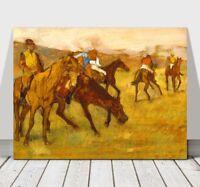 "EDGAR DEGAS - Before The Horse Race - CANVAS ART PRINT POSTER - 18x12"""
