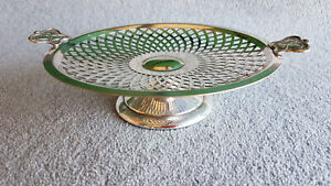 """ART NOUVEAU SILVER PLATED CAKE DISH BY """" RENOWN """" A1 QUALITY.  (c1920s). NICE !"""