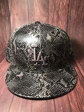 RARE LOS ANGELES DODGERS NEW ERA SNAKESKIN 5950 GRAY FITTED HAT/ Sz: 7 1/2