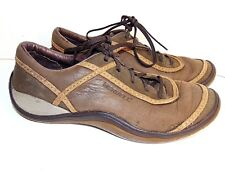 MERRELL 7  B BROWN LEATHER CASUAL/TRAIL SNEAKERS $99