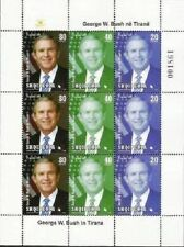 Albania Stamps 2007. USA President George W. Bush in Tirana. Sheet MNH