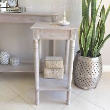 White Wash Side Table/Bedside Table/Hampton's Coastal Style/French Provincial