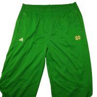 Adidas Men's 3XL Green Climalita Notre Dame Fighting Irish Track Pants