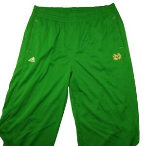 Adidas Men's 3XL Green Climalita Notre Dame Fighting Irish Track Pants