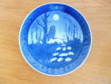 Royal Copenhagen 1974 Christmas Plate Winter Twilight Owl