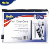 Helix A4 Pencil Case Document Wallet Crystal Clear - Perfect for Exam use