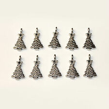 Christmas Tree Charms 10pcs Tibetan Silver Pagan/Celtic