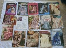 Lot 15 Vintage Crochet Leaflets Pamphlets Afghans #8