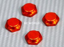 RC 1/8 Buggy Wheels Tires Rims  17MM Anodized WHEEL NUT CAP Gold  -4 pcs-