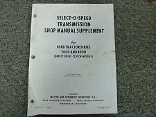 ford 901 select ospeed service manual