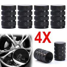 4PCs Black Durable Aluminium Alloy Dust Cover Wheel Tire Tyre Rim Valve Stem Cap