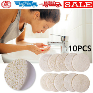 10pcs Natural Loofah Face Cleaning Pads Bath Shower Washing Scrubber Sheet
