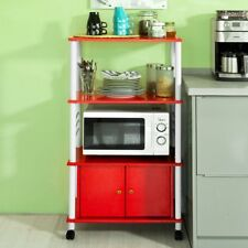 SoBuy® Wood Kitchen Storage Cabinet Cart, Microwave Rack Shelf, FRG12-R, Red, UK