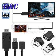 1M 1080P HDMI HDTV Adaptador Usb Av TV Cable para iPhone X/8 Android de tipo C teléfonos
