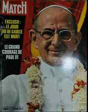 PARIS MATCH 1127 Paul VI Lelouch Vitria de Gaulle