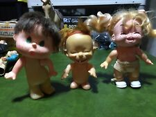 "lot of 3 vintage plastic dolls approximately 5"" tall Evergreen Imco"