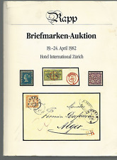 RAPP 1982 BRIEFMARKEN-AUKTION IMPORTANT STAMPS OF THE WORLD CATALOG & SUPPLEMENT