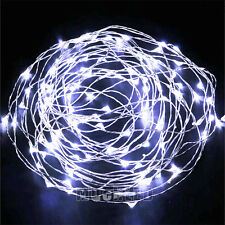 10M 100LED Copper Wire LED String Fairy Lights for Decoration AC plug Cool White