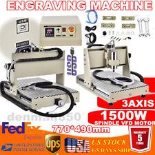 Usb 3 Axis Cnc Router Kit 6040 15kw Vfd 3d Milling Machine 24000rpm Woodpvc Us