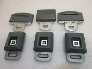3X GM Logo Seat Belt Buckle Push Button With Fixed Latch, Chevy Seatbelt Buckle