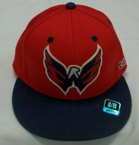 NHL Washington Capitals Flat Bill Flexfit CCM Hat - Adult S/M - New
