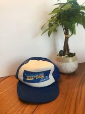 """Vintage Collection """"WMUS 107FM Country"""" One Size White And Blue Ships N24h"""