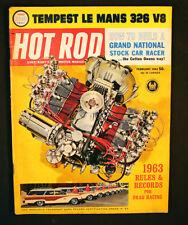 Vintage Hot Rod Magazine Tempest Lemans 326 V8 1963 Cotton Owens Stock Car
