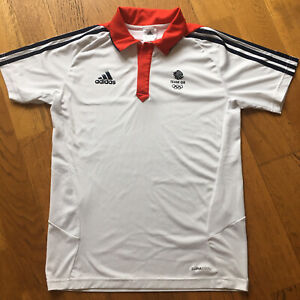 Adidas Olympic Games Team GB Polo Shirt Women's Medium (38/40) White Impeccable