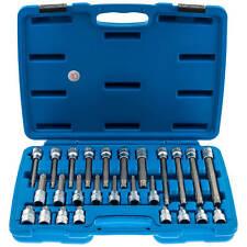 Innen Vielzahn Steckschlüssel Satz Werkzeug Set M5-M16 26-tlg. Nüsse Nuss lang