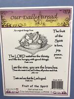 """Our Daily Bread """"Fruit Of The Spirit"""" Cling Rubber Stamp Set"""
